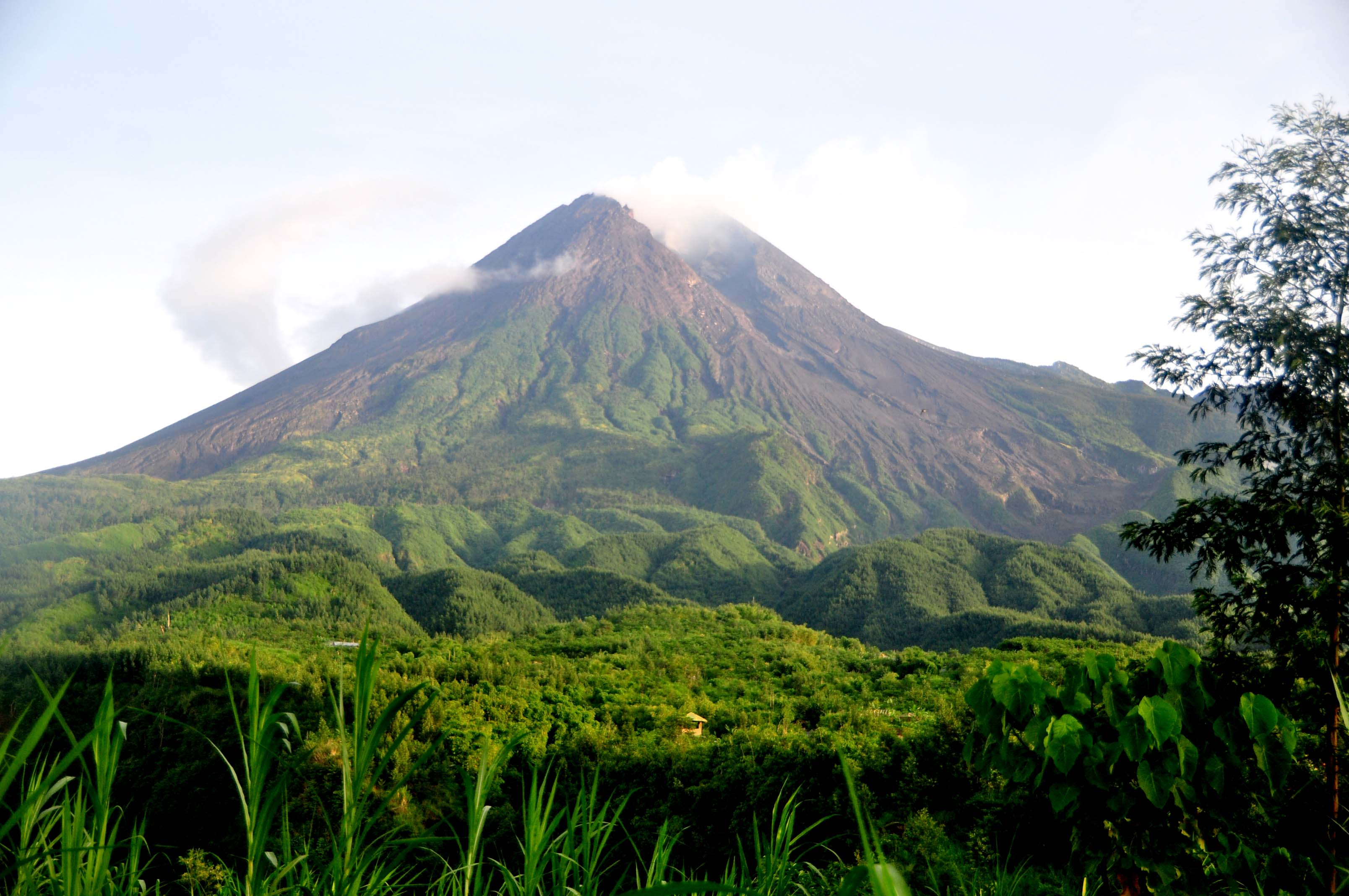 how tall is mount merapi